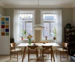 Spotlight on color: una cucina verde menta per un perfetto interno nordico