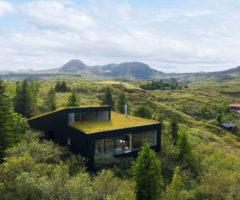 Go green: un rifugio islandese modellato dall'ambiente